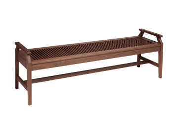 "Opal-72"" Bench with Arms"