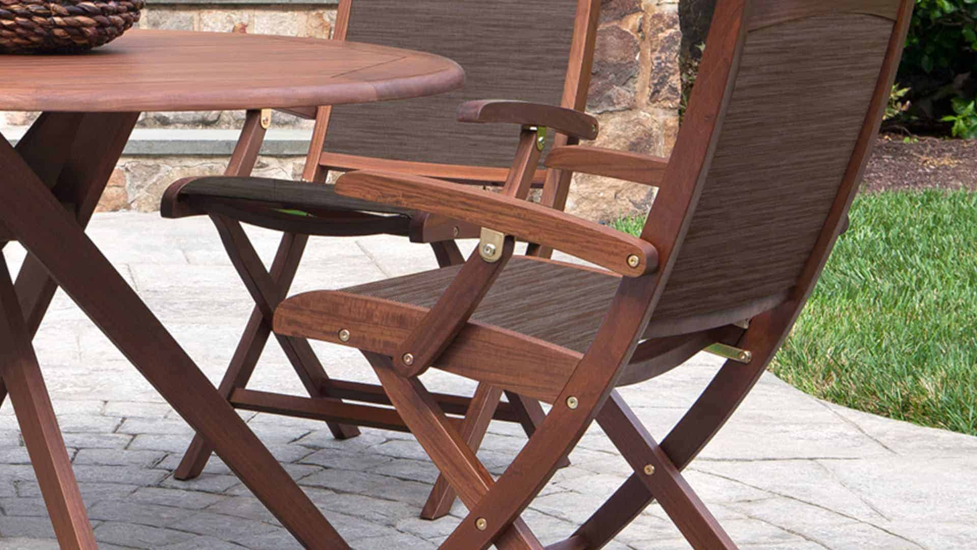 Topaz Folding Natural Sling Chair