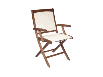 Topaz-Folding Sling Arm Chair | Beige