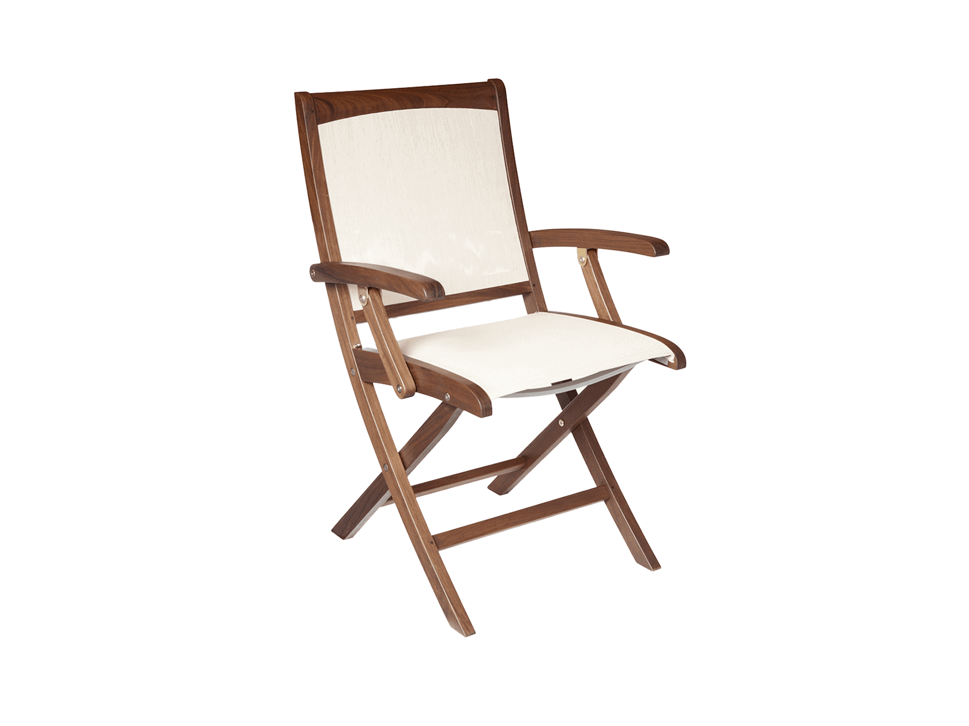 Topaz Folding Natural Sling Chair - Jensen Leisure Furniture
