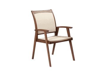 Topaz-Sling Arm Chair | Beige