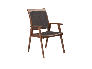 Topaz-Sling Arm Chair | Brown
