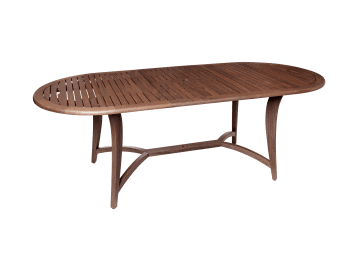 "Topaz-87"" Oval Extension Dining Table"