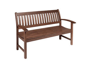 "Classic Ipe-55"" Garden Bench with Arms"