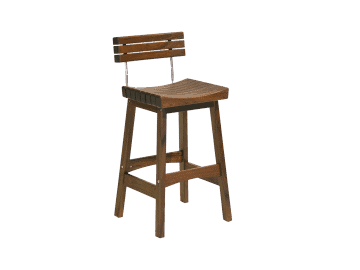 Classic Ipe-Sunset Bar Stool with Back