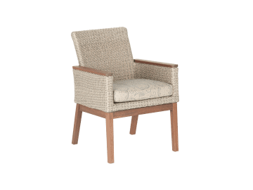 Coral-Low Back Arm Chair | Natural