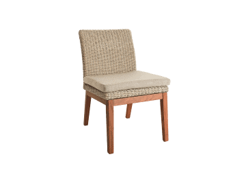 Coral-Low Back Side Chair | Natural