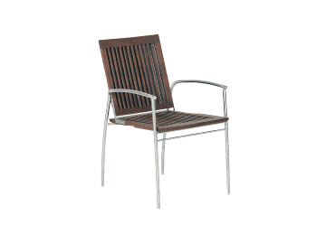 Kaffe Bistro Stacking Chair assembled