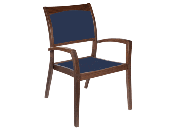 Topaz-Stacking Sling Arm Chair | Blue