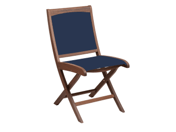 Topaz-Folding Sling Side Chair | Blue