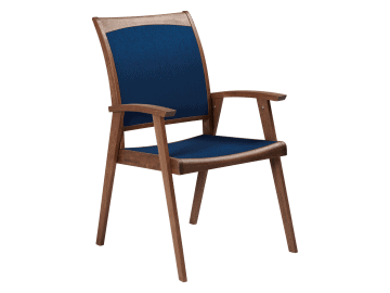 Topaz Dining Chair Blue Sling