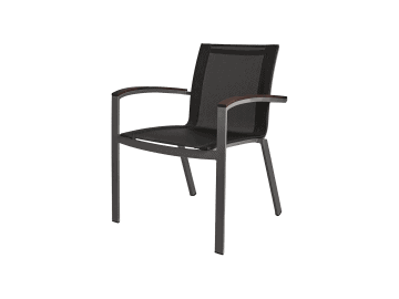 Harmony-Stacking Sling Arm Chair | Gray