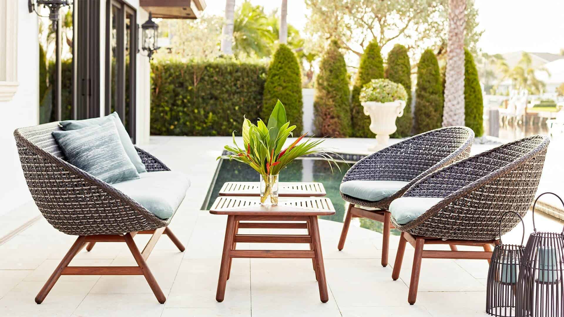 Nest Modern Woven Deep Seating Collection from Jensen Leisure Furniture