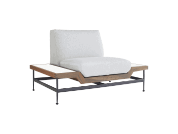 Jett-Lounge Chair with 2 White HPL Tops