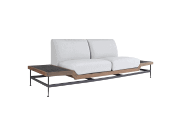Jett-Loveseat with 2 Dark Gray HPL Tops